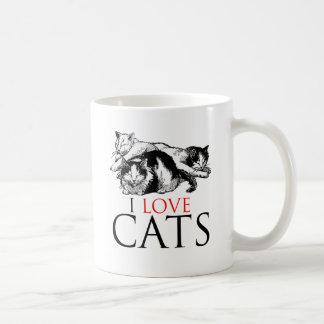 I Love Cats Classic White Coffee Mug