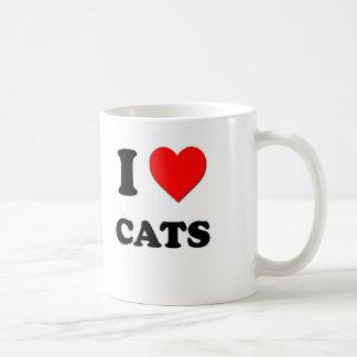 I love Cats Coffee Mugs