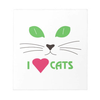 I Love Cats Memo Pads