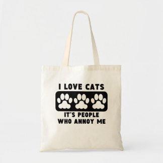 I Love Cats People Annoy Me Tote Bag