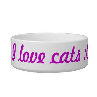 I love Cats Pet Bowl