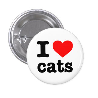 """I LOVE CATS"" PINBACK BUTTON"