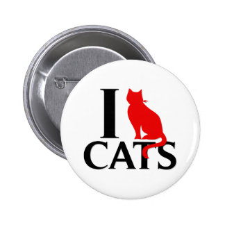 I Love Cats Pinback Button