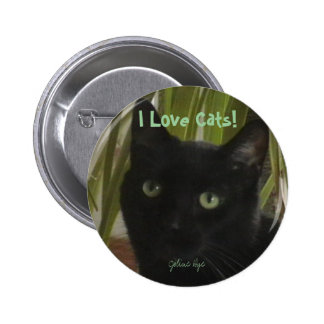 I Love Cats! Pinback Button