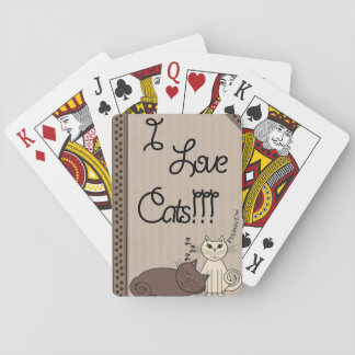 I Love Cats!!! Playing Cards