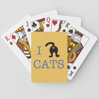 I Love Cats Playing Cards Butt Cute Humor