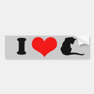 I LOVE CATS - png Bumper Stickers