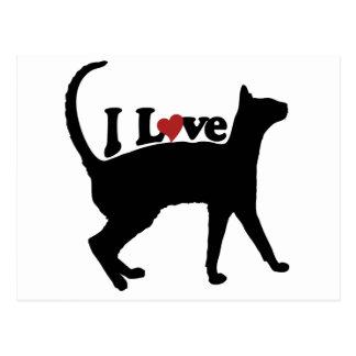 I Love Cats Post Card