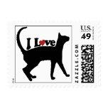 I Love Cats Postage Stamp