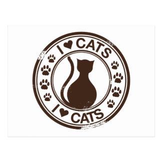I love cats postcard