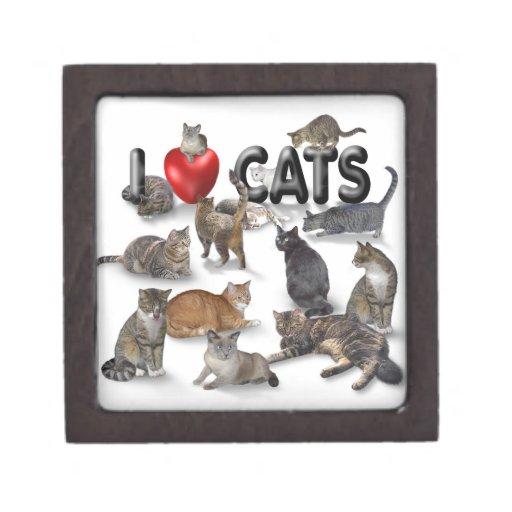I love Cats Premium Trinket Boxes