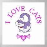 I Love Cats Print