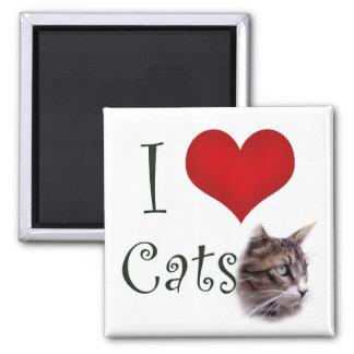 I Love Cats Refrigerator Magnet