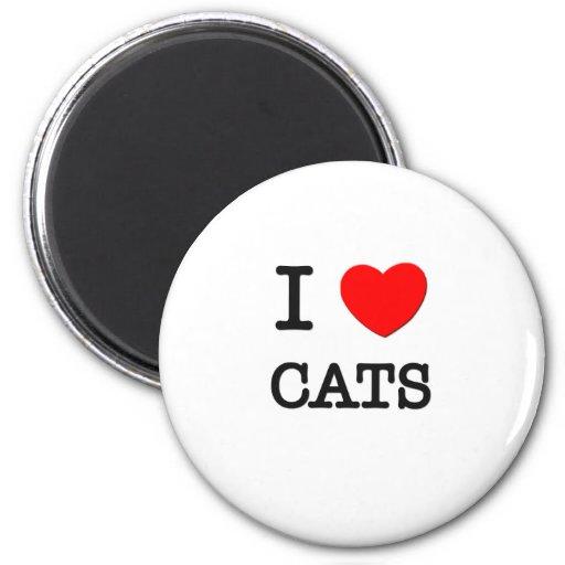 I Love CATS Refrigerator Magnets