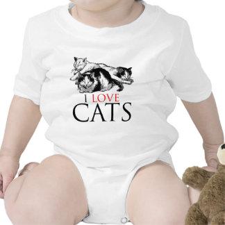 I Love Cats Romper