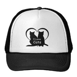 I Love Cats Shirt Trucker Hat