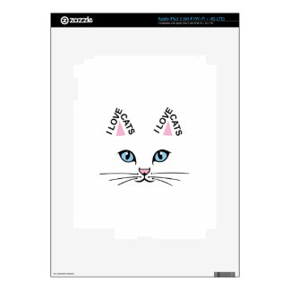 I LOVE CATS SKIN FOR iPad 3