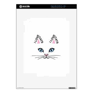 I LOVE CATS iPad 2 SKIN