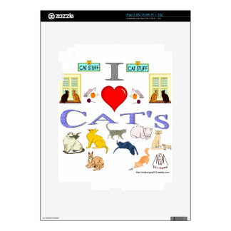 I Love Cat's Decal For The iPad 2