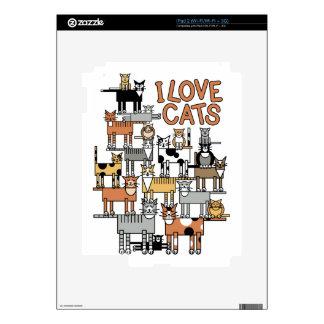 I LOVE CATS iPad 2 DECAL