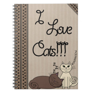 I Love Cats!!! Spiral Notebook