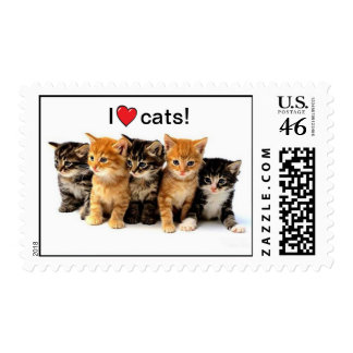 I love cats stamp