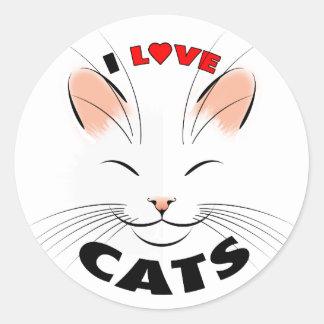 I Love Cats sticker