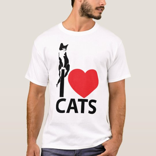 I love Cats T-Shirt - Customized