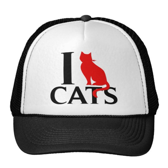 I Love Cats Trucker Hat