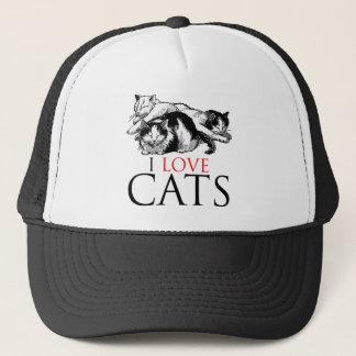 I Love Cats Trucker Hat