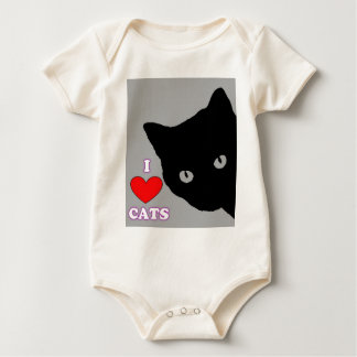 I LOVE CATS TSHIRT Happy Fun Text  & Red Heart