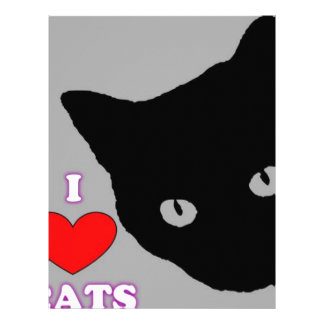 I LOVE CATS TSHIRT Happy Fun Text  & Red Heart Letterhead
