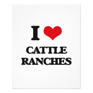 "I love Cattle Ranches 4.5"" X 5.6"" Flyer"