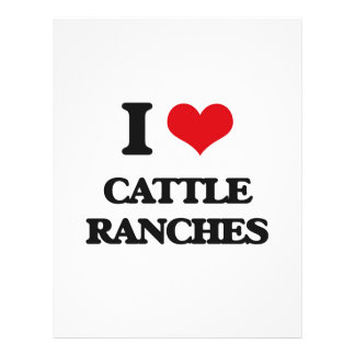"I love Cattle Ranches 8.5"" X 11"" Flyer"