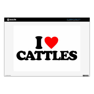 I LOVE CATTLES LAPTOP DECAL
