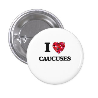 I love Caucuses 1 Inch Round Button