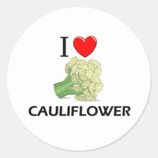 I Love Cauliflower Classic Round Sticker