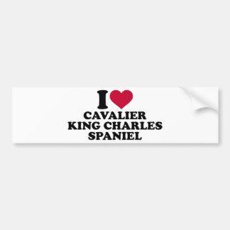 I love Cavalier King Charles Spaniel Car Bumper Sticker