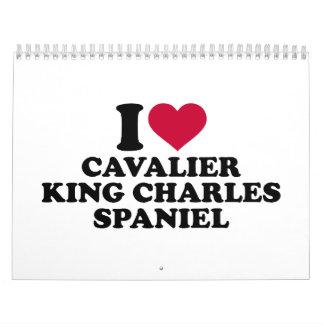 I love Cavalier King Charles Spaniel Calendar