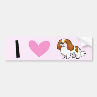 I Love Cavalier King Charles Spaniels Car Bumper Sticker