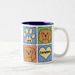 I Love Cavalier King Charles Spaniels Two-Tone Coffee Mug