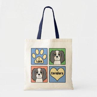 I Love Cavalier King Charles Spaniels Tote Bag