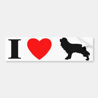 I Love Cavalier Spaniels Bumper Sticker Car Bumper Sticker