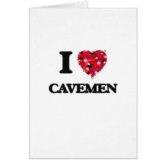 I love Cavemen Greeting Card