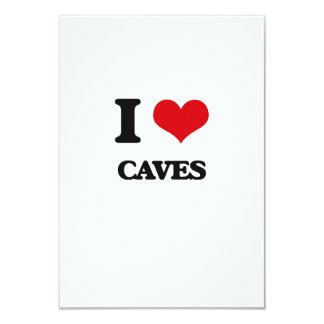 I love Caves 3.5x5 Paper Invitation Card
