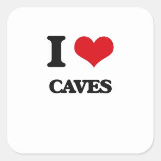 I love Caves Square Sticker