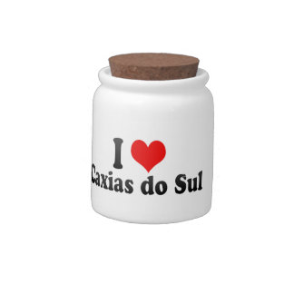 I Love Caxias do Sul, Brazil Candy Jar
