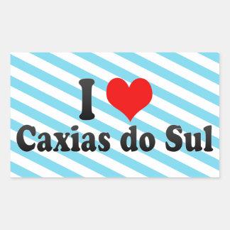 I Love Caxias do Sul, Brazil Rectangular Sticker