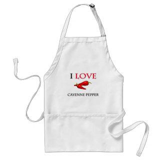 I Love Cayenne Pepper Adult Apron