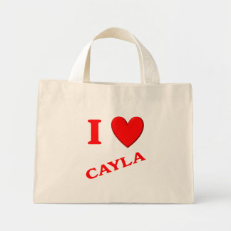 I Love Cayla Mini Tote Bag